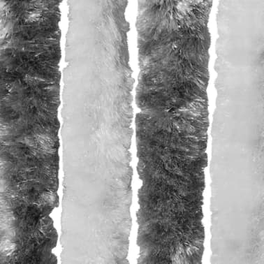 Insektenschutz-Vorhang Grau und Weiß 56x185 cm Chenille
