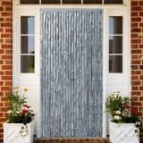 vidaXL Moustiquaire Blanc et gris 90x220 cm Chenille
