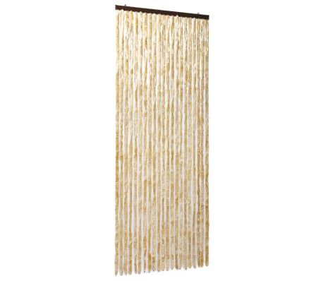 vidaXL Insektsdraperi beige 90x220 cm chenille