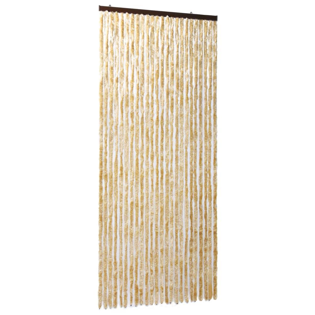 vidaXL Vliegengordijn 100x220 cm chenille beige