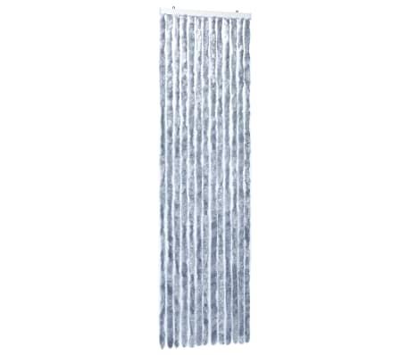 vidaXL Insektsdraperi silver 56x185 cm chenille