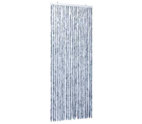 vidaXL Insektsdraperi silver 90x220 cm chenille