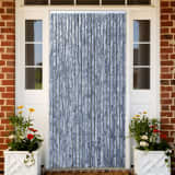 vidaXL Insect Curtain Silver 100x220 cm Chenille