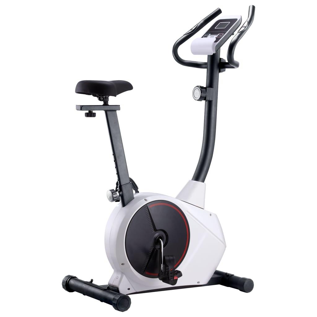 vidaXL Bicicleta estática magnética com medição de pulsação