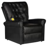 vidaXL Electric Massage Recliner Chair Black Faux Leather