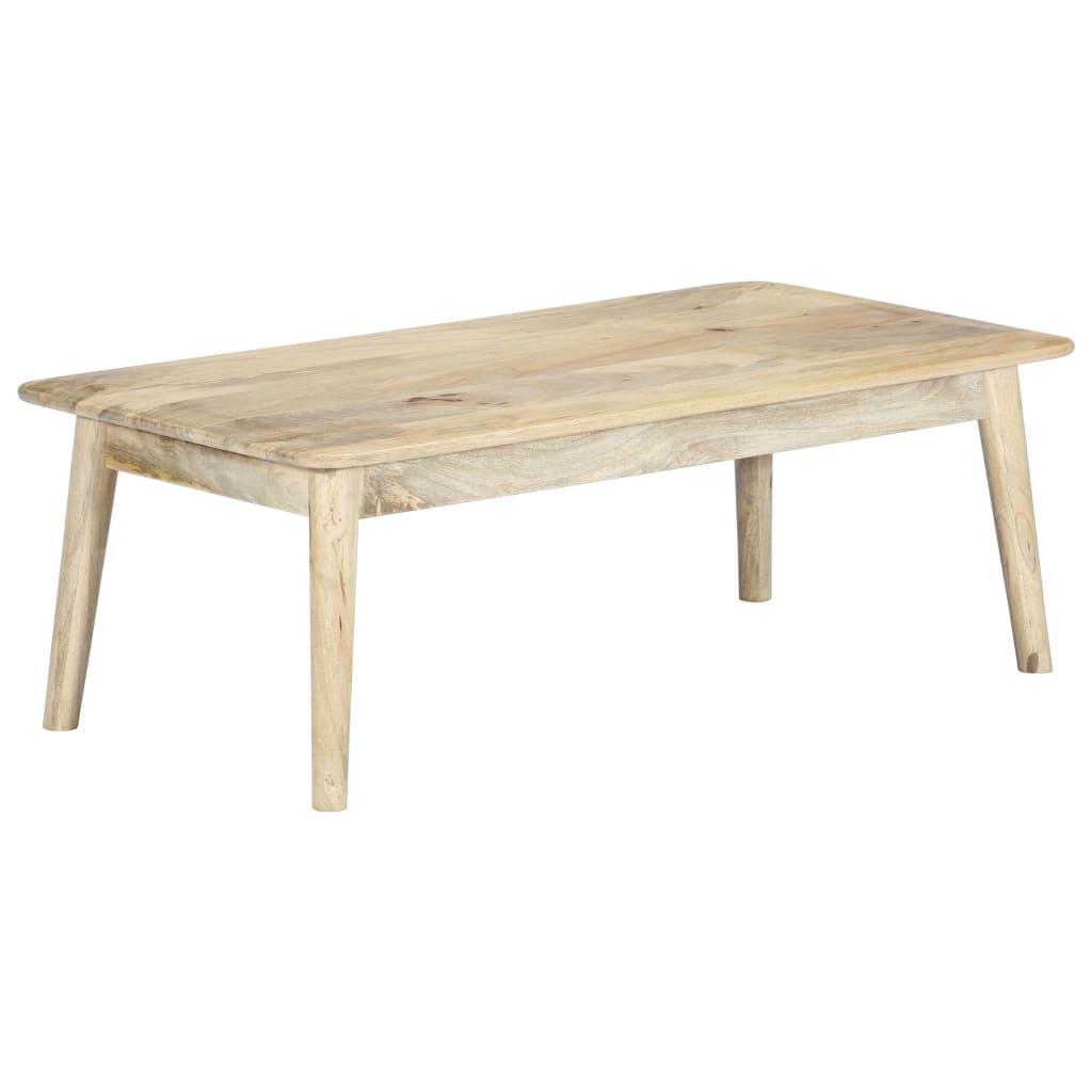 vidaXL Table basse 115x60x40 cm Bois de manguier massif