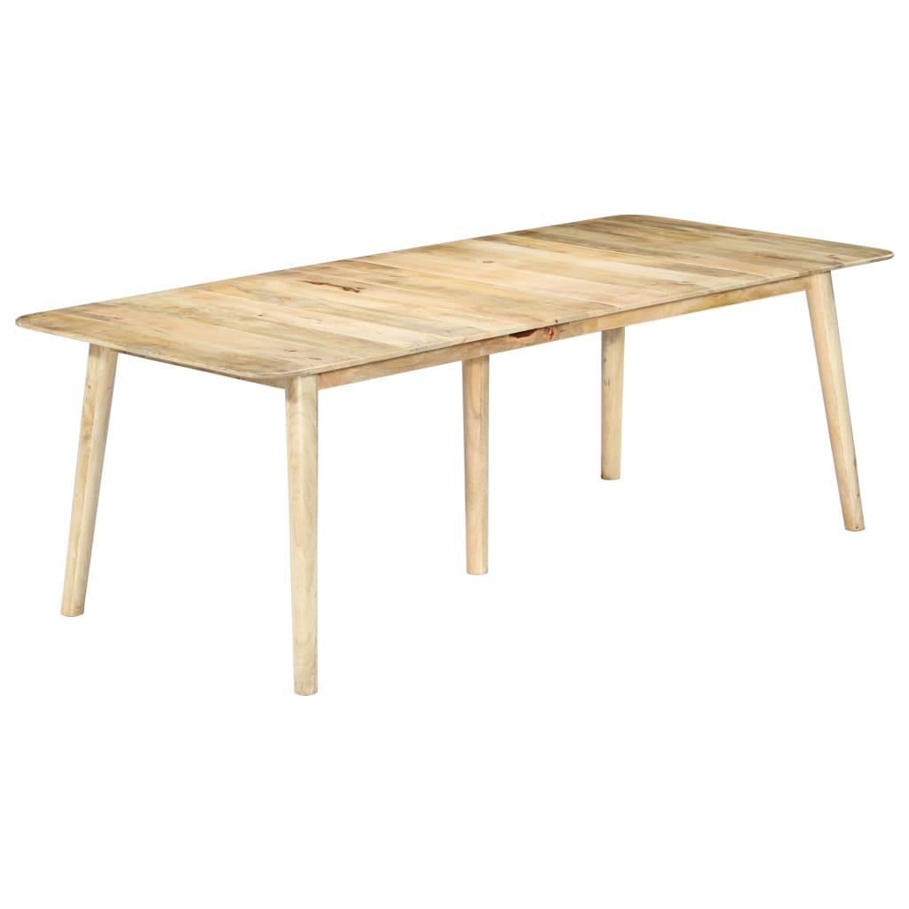 vidaXL Masă de bucătărie, 220x100x76 cm, lemn masiv de mango imagine vidaxl.ro
