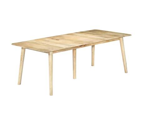 vidaXL Blagovaonski stol od masivnog drva manga 220 x 100 x 76 cm