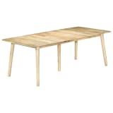 vidaXL Dining Table 220x100x76 cm Solid Mango Wood
