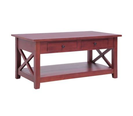 vidaXL Konferenční stolek hnědý 100 x 55 x 46 cm masivní mahagon