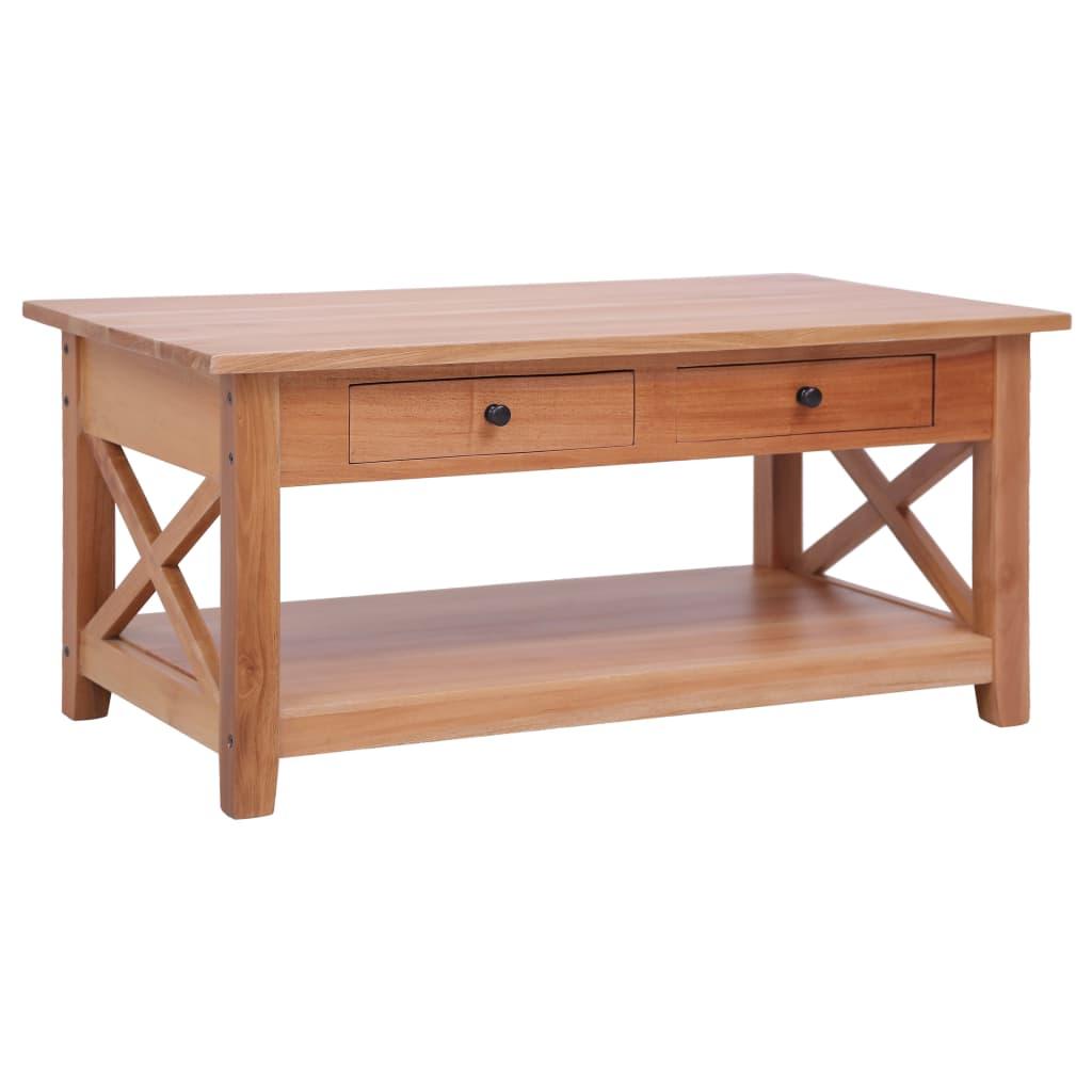 vidaXL sofabord 100 x 55 x 46 cm massivt mahognitræ