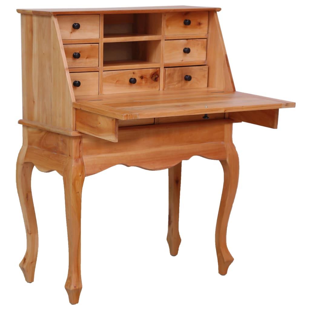 vidaXL Birou secretar, 78 x 42 x 103 cm, lemn masiv de mahon imagine vidaxl.ro