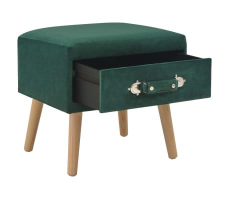 vidaXL Naktiniai staliukai, 2vnt., žali, 40x35x40cm, aks.[3/9]