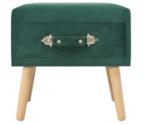 vidaXL Naktiniai staliukai, 2vnt., žali, 40x35x40cm, aks.[5/9]