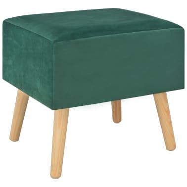 vidaXL Naktiniai staliukai, 2vnt., žali, 40x35x40cm, aks.[4/9]
