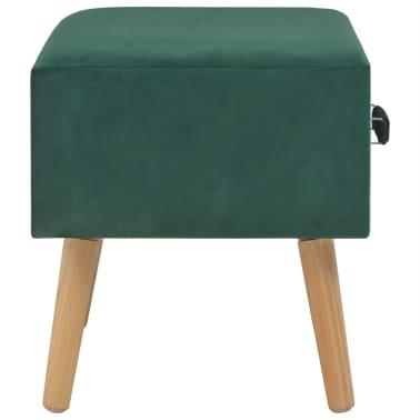 vidaXL Naktiniai staliukai, 2vnt., žali, 40x35x40cm, aks.[6/9]