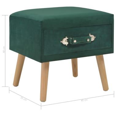 vidaXL Naktiniai staliukai, 2vnt., žali, 40x35x40cm, aks.[9/9]