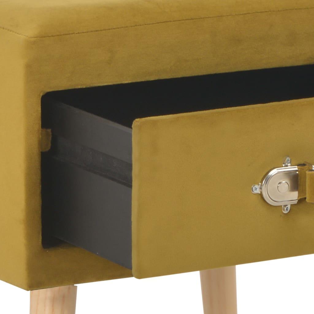 vidaXL Nachtkastjes 2 st 40x35x40 cm fluweel mosterdkleurig