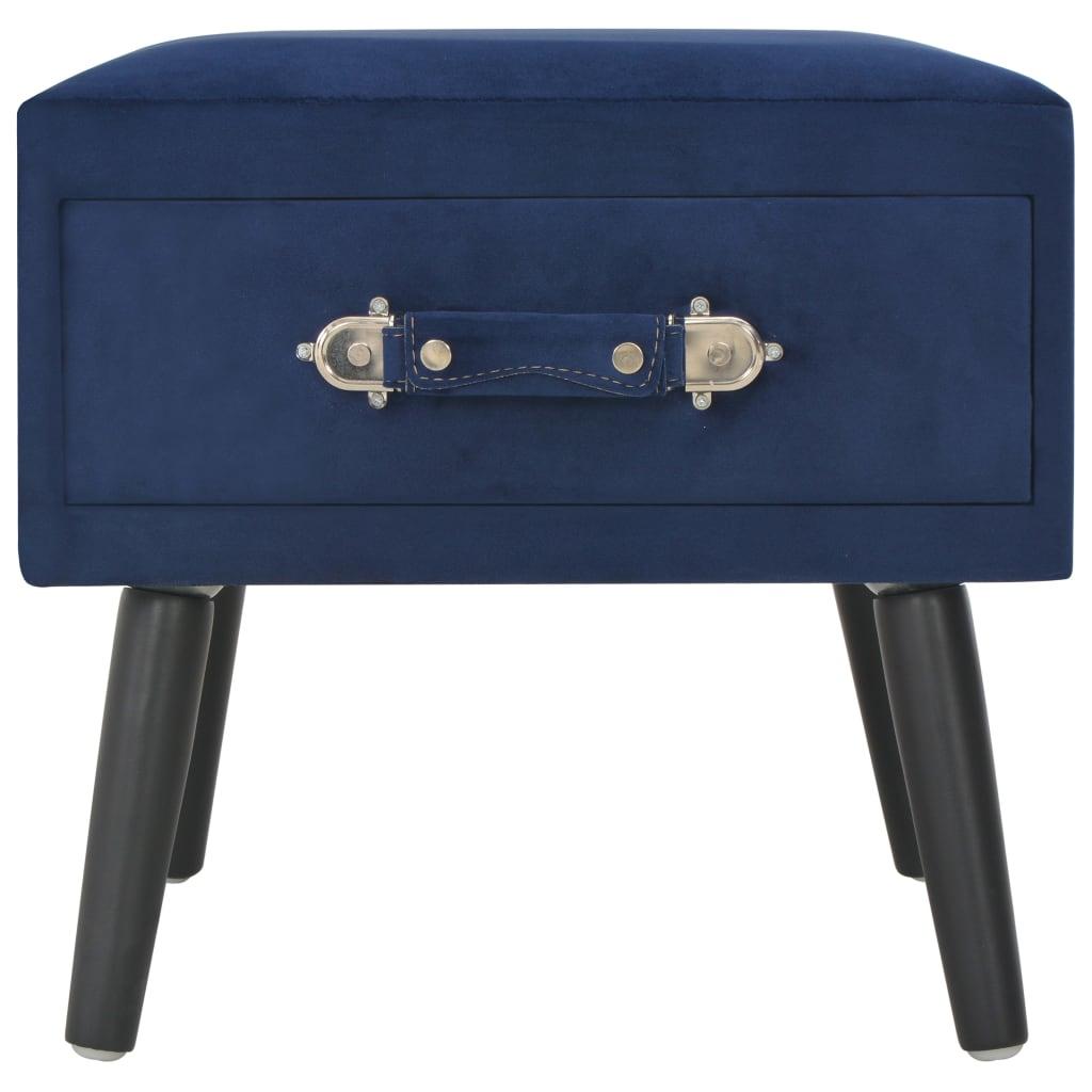 vidaXL Nachtkastjes 2 st 40x35x40 cm fluweel blauw