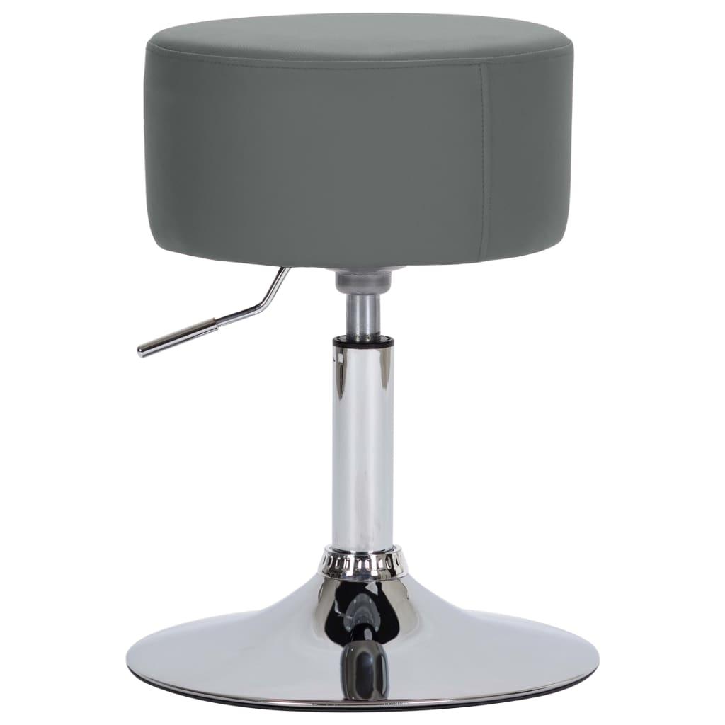 vidaXL Barová stolička šedá umělá kůže