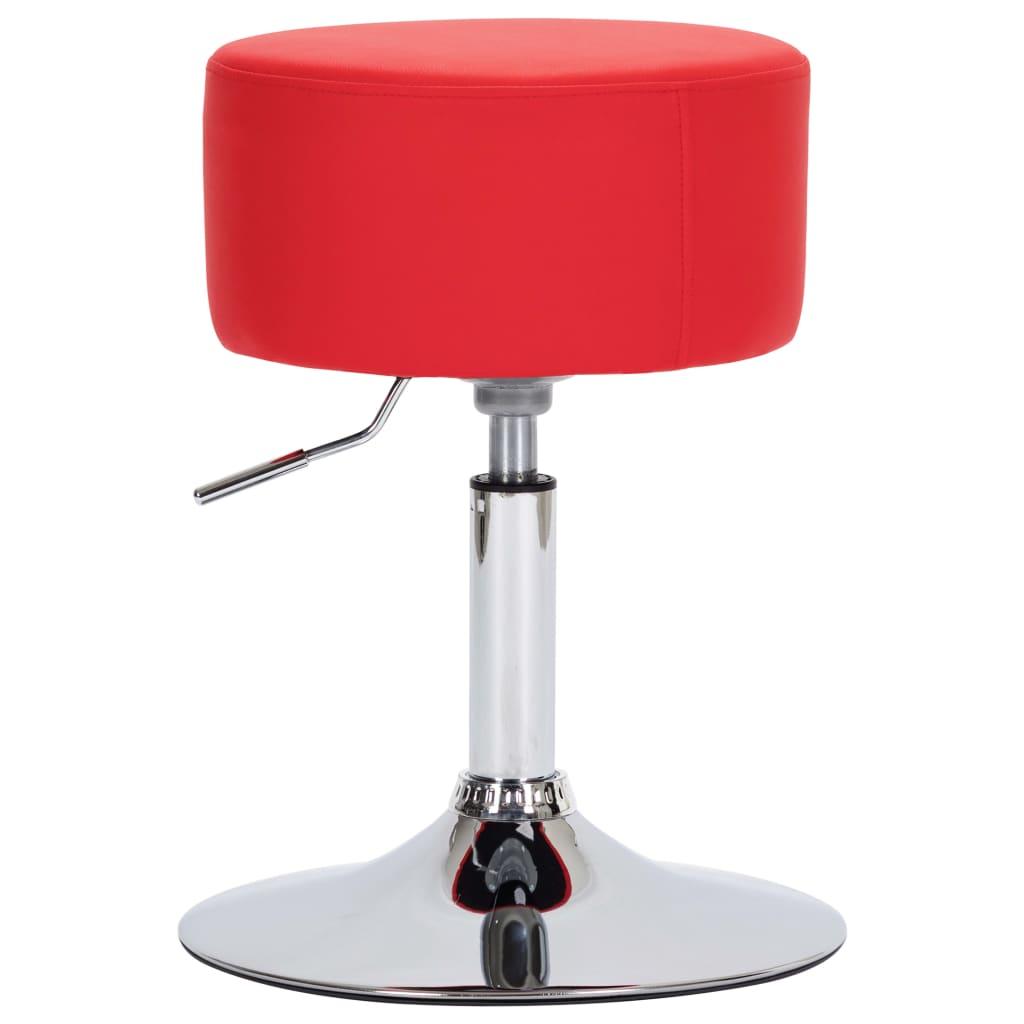 Barová stolička červená umělá kůže