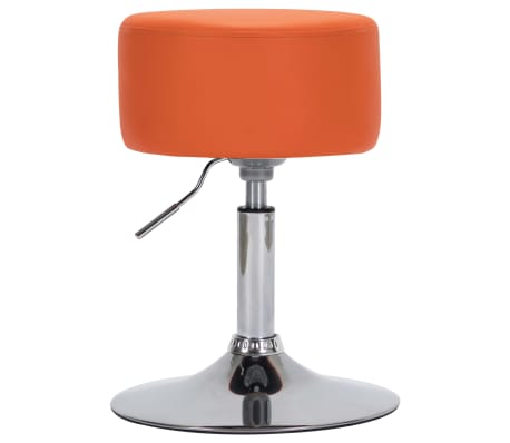 vidaXL Barkruk kunstleer oranje