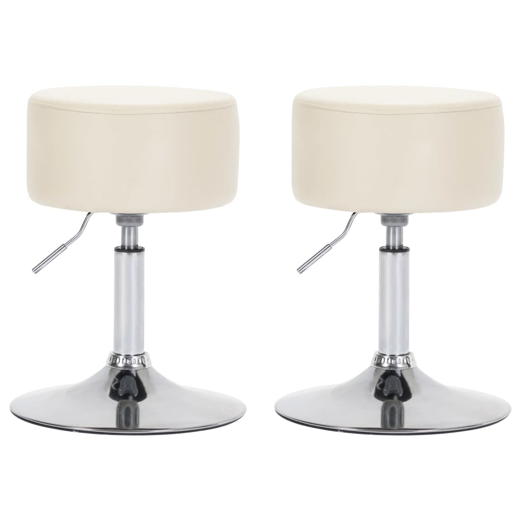 vidaXL barstole 2 stk. kunstlæder cremefarvet