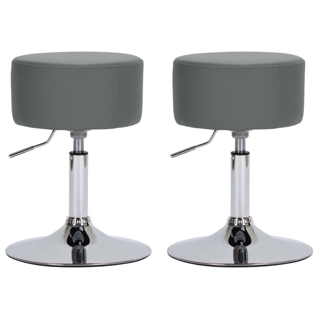 Barové stoličky 2 ks šedé umělá kůže