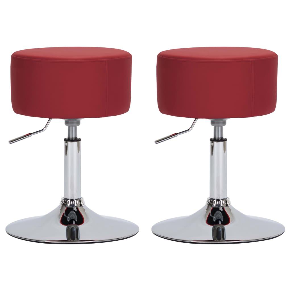 Barové stoličky 2 ks vínové umělá kůže