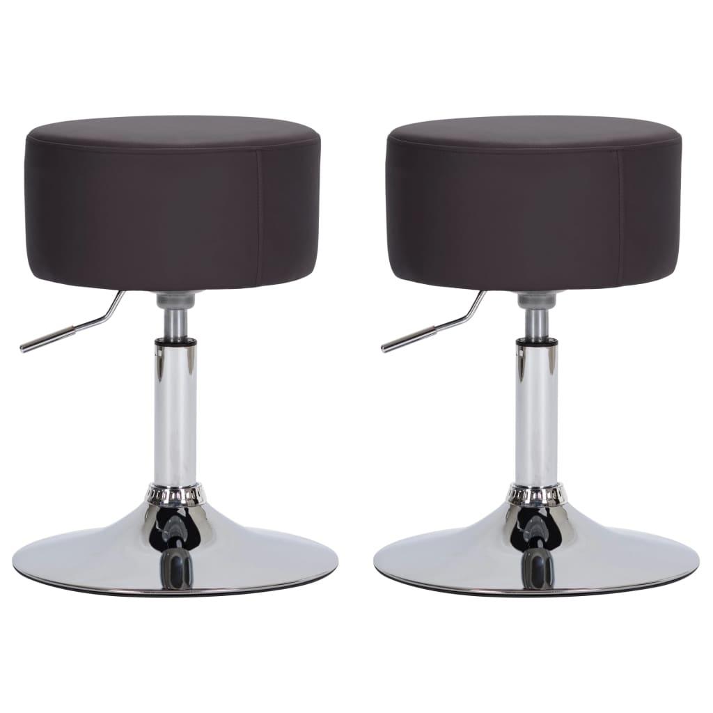 Barové stoličky 2 ks hnědé umělá kůže
