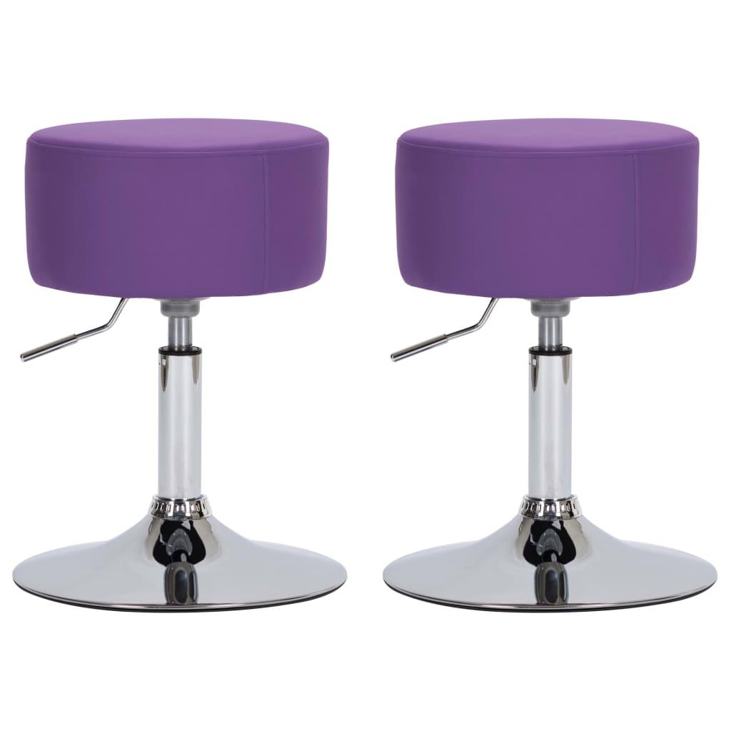 Barové stoličky 2 ks fialové umělá kůže