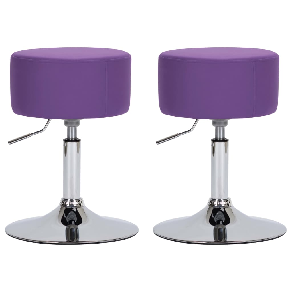 vidaXL barstole 2 stk. kunstlæder lilla