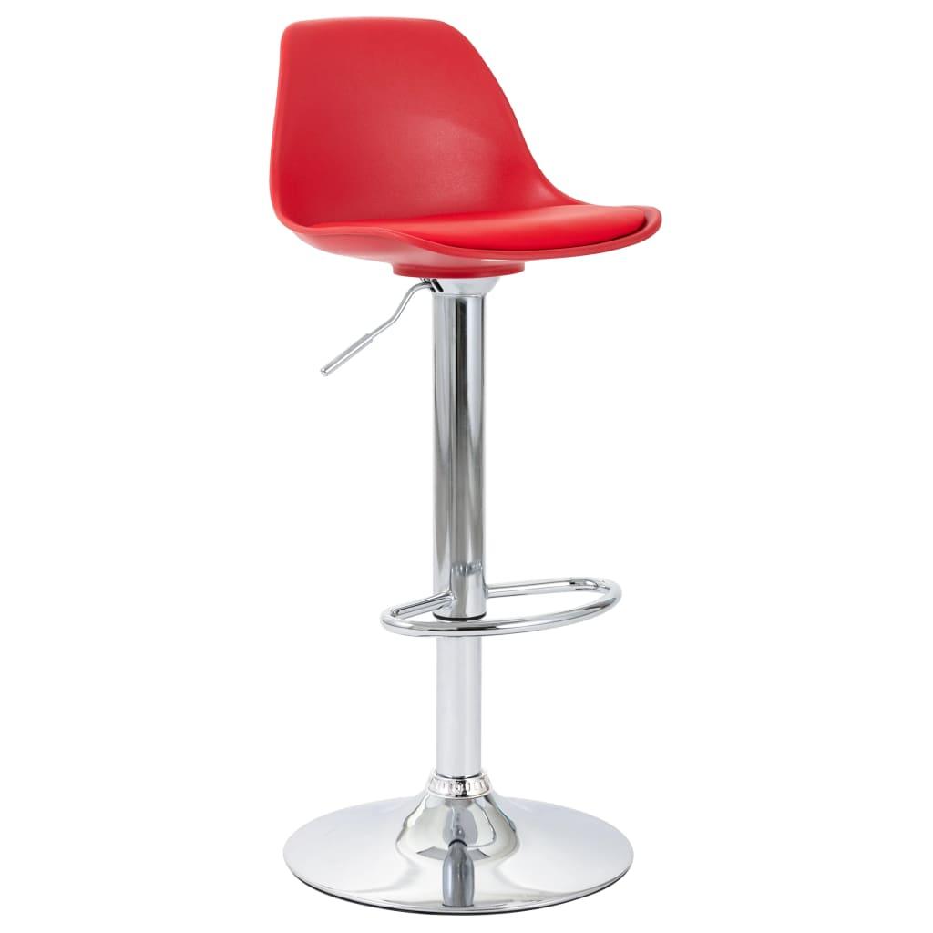 vidaXL Scaun de bar, roșu, piele ecologică poza 2021 vidaXL