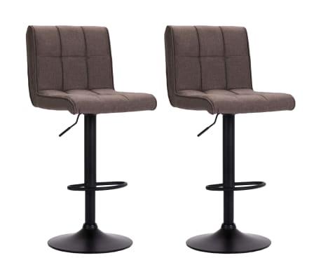 vidaXL Barové stoličky 2 ks taupe textil