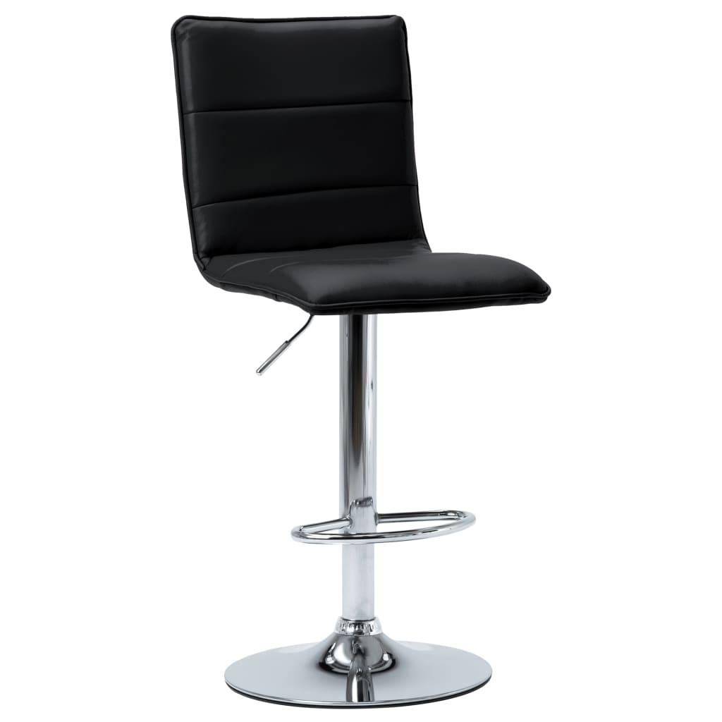 vidaXL Krzesło barowe, czarne, sztuczna skóra