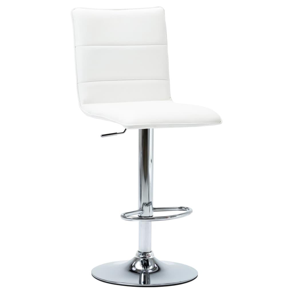 vidaXL Barová židle bílá umělá kůže