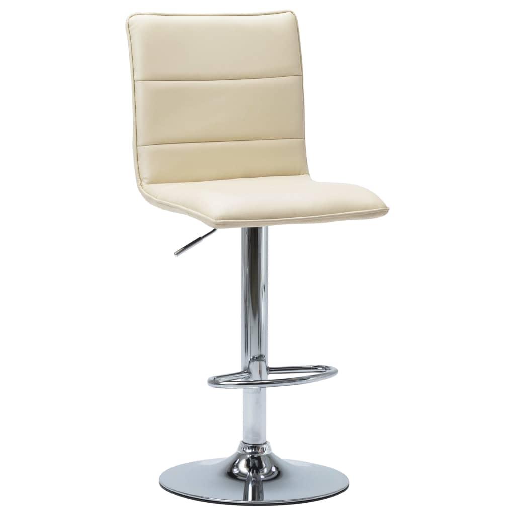 Barová židle krémová umělá kůže