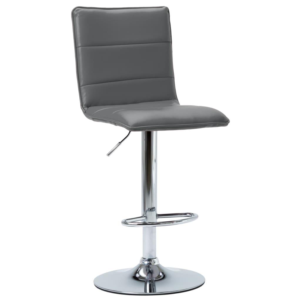 vidaXL Barová židle šedá umělá kůže