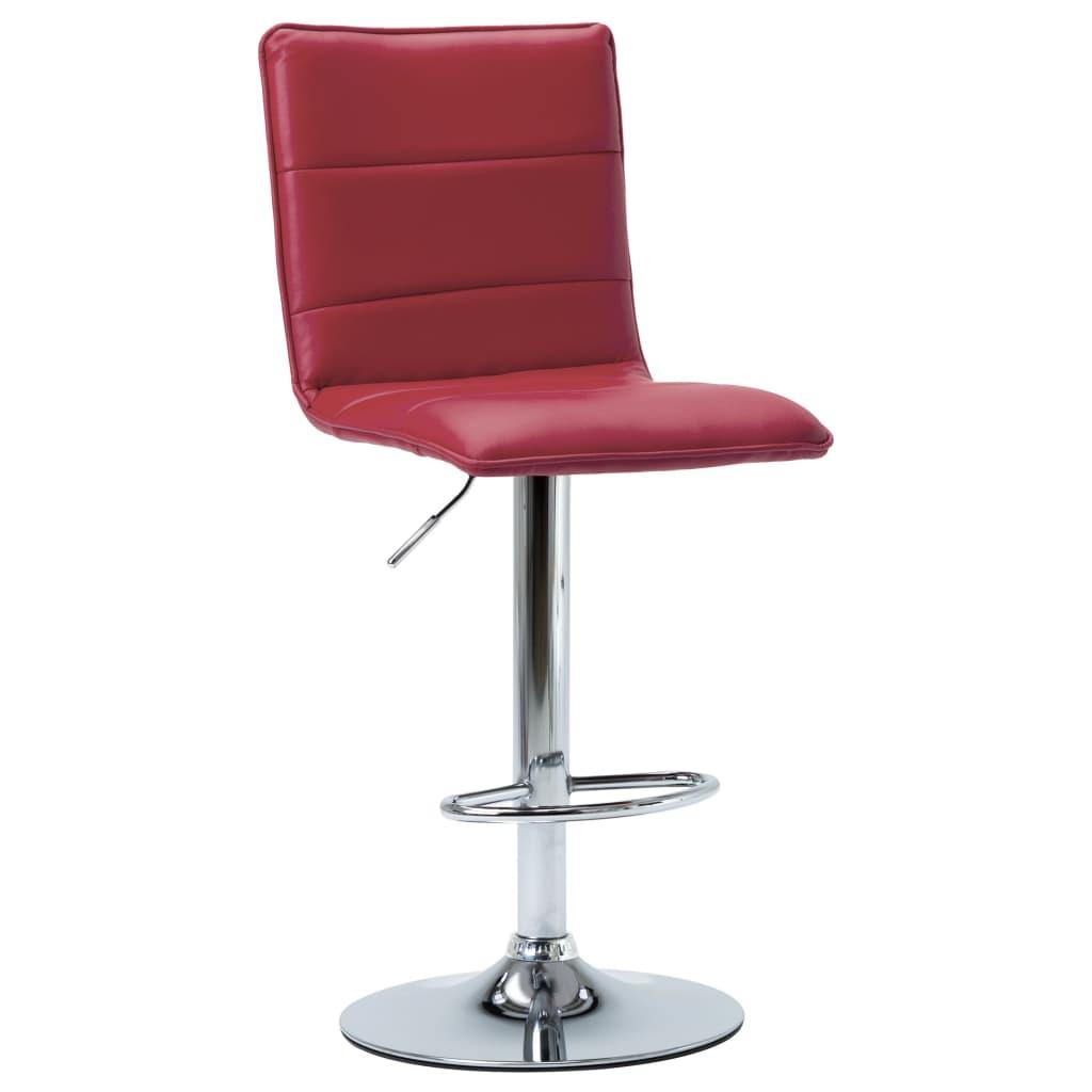 vidaXL Chaise de bar Rouge bordeaux Similicuir