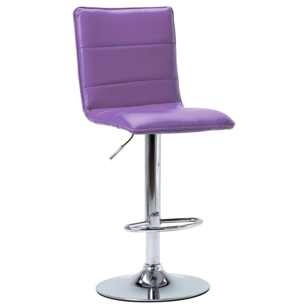 Barová židle fialová umělá kůže