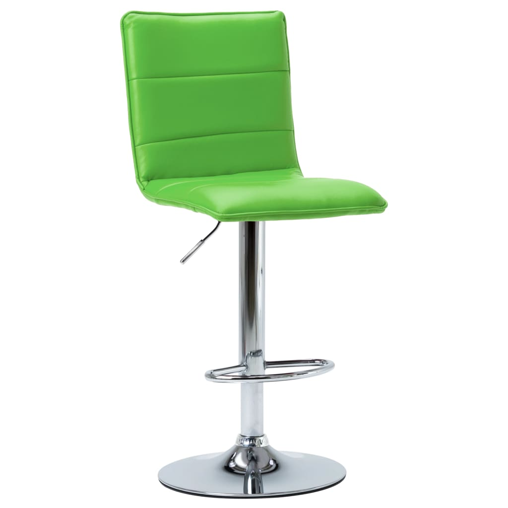 Barová židle zelená umělá kůže