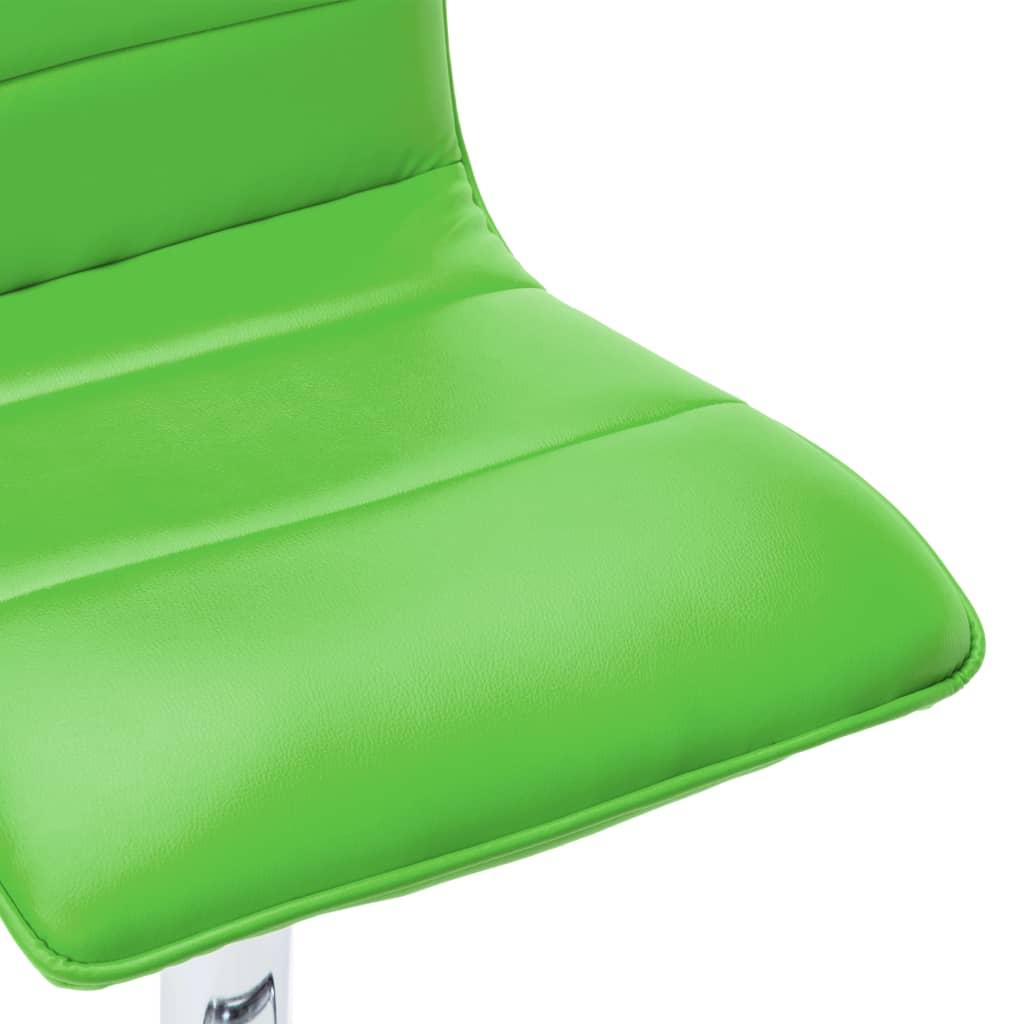 Barstoelen 2 st kunstleer groen