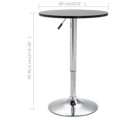 vidaXL barbord Ø 60 cm MDF sort[5/5]