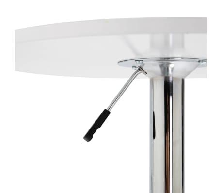 vidaXL Baro stalas, baltos spalvos, MDF, 60 cm skersmens[3/5]