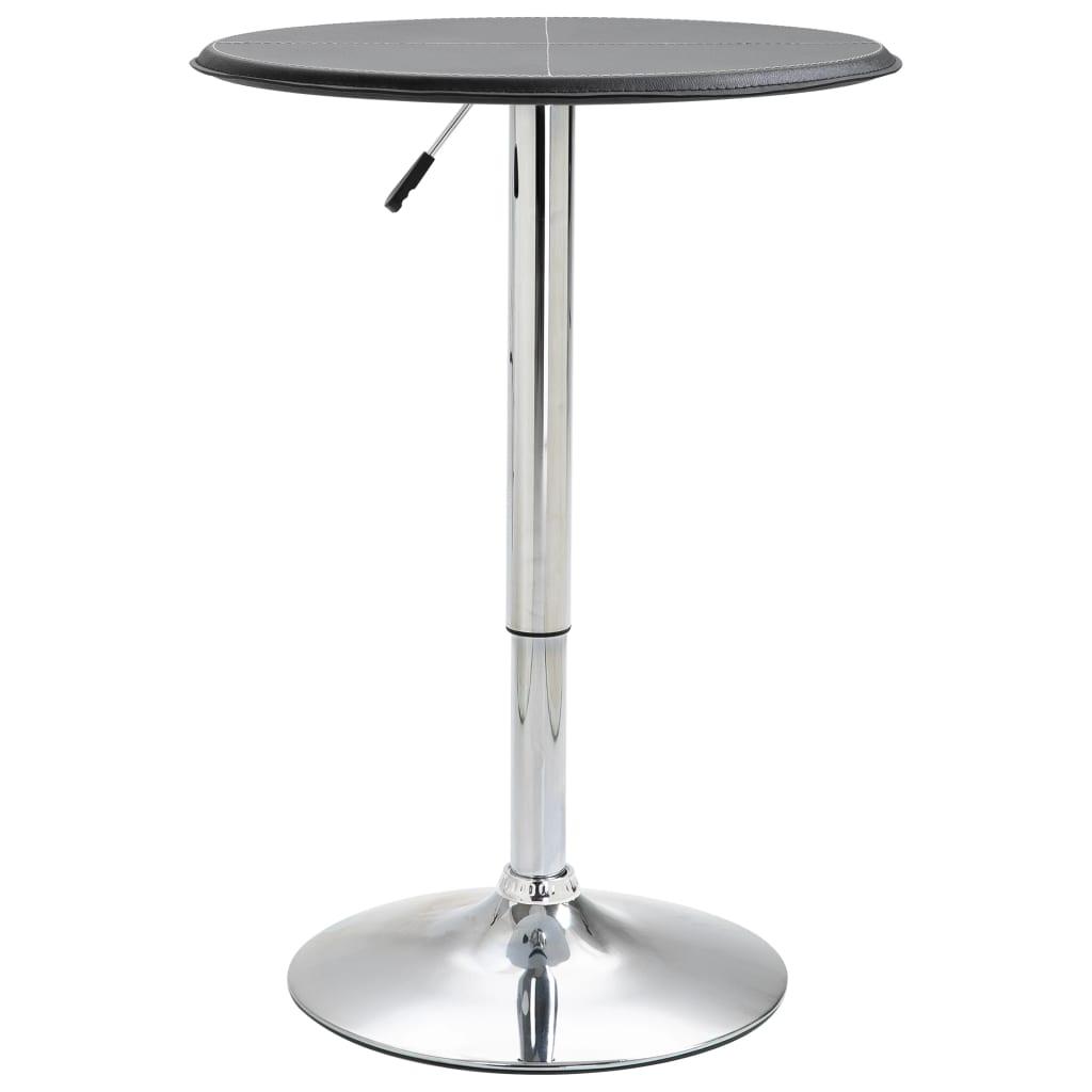 Barový stůl černý Ø 60 cm MDF