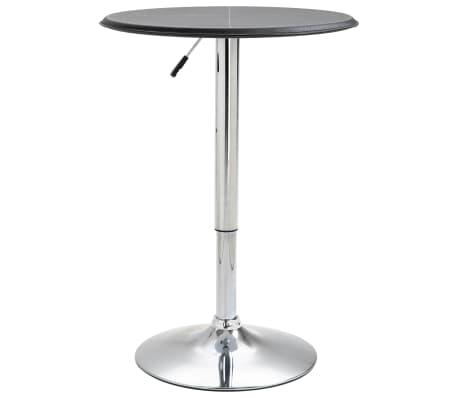 vidaXL Barový stůl černý Ø 60 cm MDF