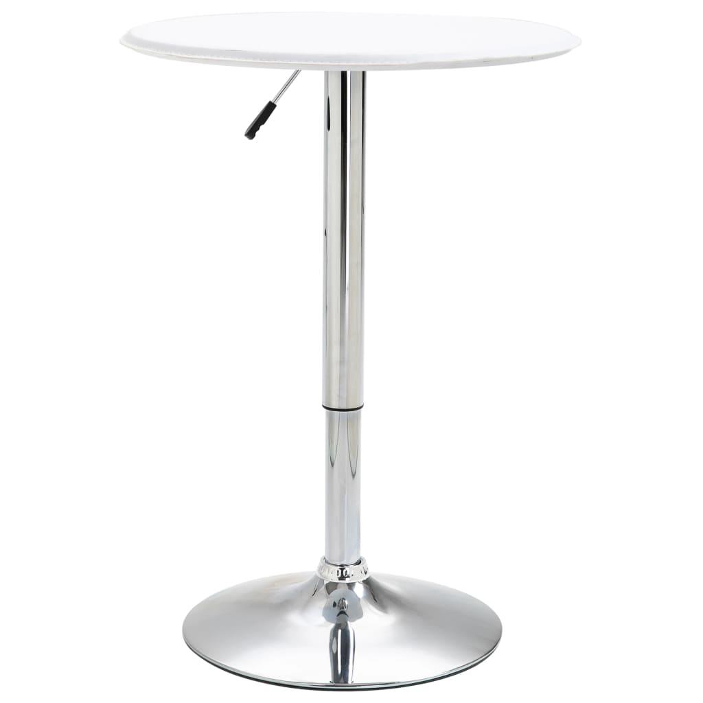 Barový stůl bílý Ø 60 cm MDF