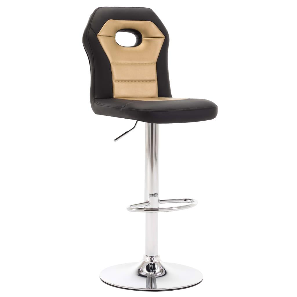 Barová židle zlatá umělá kůže