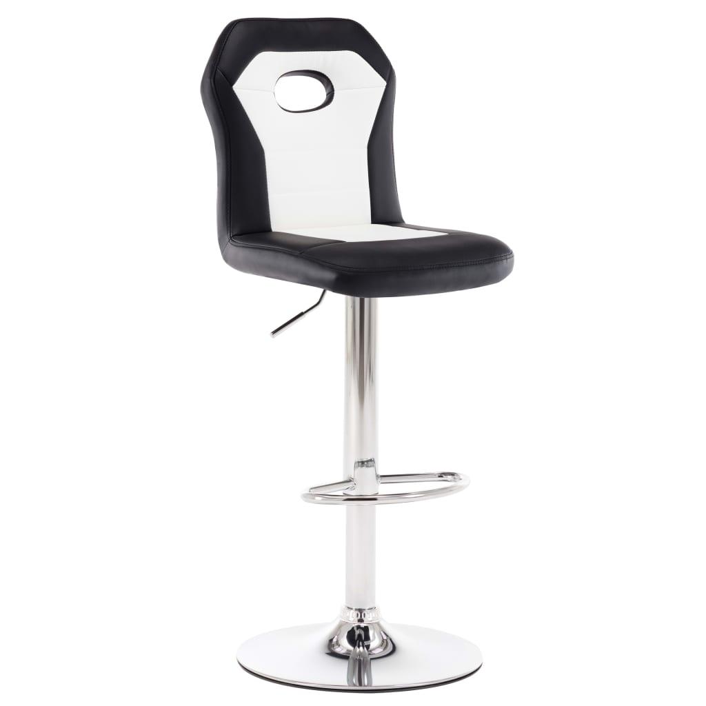 Barová židle bílá umělá kůže