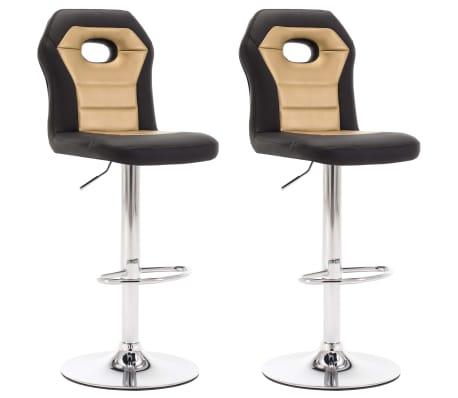 vidaXL Barové židle 2 ks zlaté umělá kůže